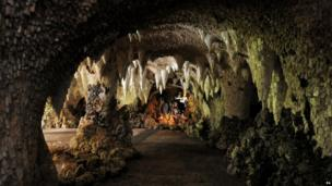 Restored grotto at Painshill Park