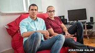 Co-founders of Instabug, Omar Gabr (left) and Moataz Soliman