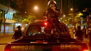 Police in Rio de Janeiro on 20 June 2013