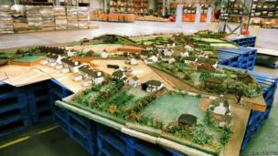 Magor model village laid out as one