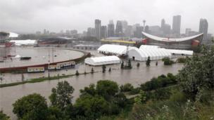 The Calgary Stampede grounds, 21 June 2013