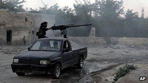 Syrian rebels in Aleppo. 20 June 2013