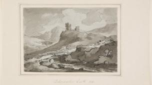 Castell Dolwyddelan gan WG Jennings