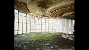 Sochi Project: Part of the Series 'Empty Land, Promised Land, Forbidden Land'. Ballroom, Pitsunda, Abkhazia, 2009.