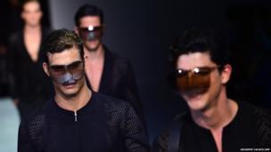 Models at fashion week in Milan