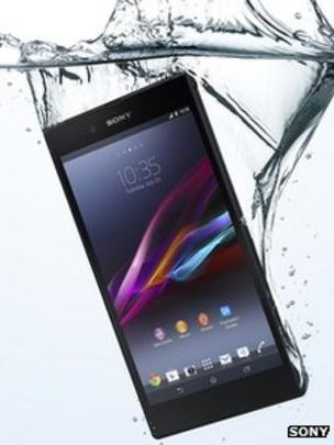 new styles a914e 46fef Sony launches giant waterproof Xperia Z Ultra phone - BBC News