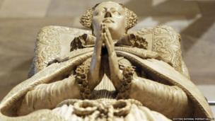 A replica of the tomb erected at Westminster Abbey by her son, who was James VI of Scotland and James I of England, will feature in the National Museum Exhibition.