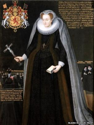 The Blairs Memorial Portrait of Mary, Queen of Scots was deliberately painted as a piece of political and religious propaganda to promote her death as a Catholic martyr.