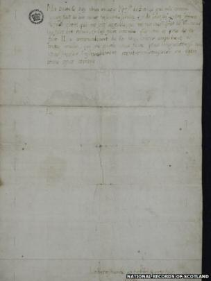 This is the earliest known surviving letter of Mary, written in 1550 to her mother, Mary of Guise. Mary of Guise, a Frenchwoman and by now widow of James V, was Queen Regent in Scotland while her daughter, who was already Queen of Scotland, was being educated at the French court.
