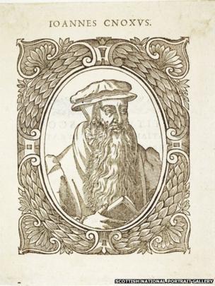 John Knox, 1505 - 1572.Wood engraving on paper. Unknown artist, after Adrian Vanson, 1580