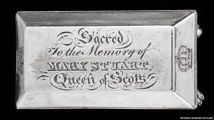 Silver casket memorialising Mary, Queen of Scots