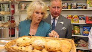Freshly baked bread; the royal couple visited Gillander's butchers in the village