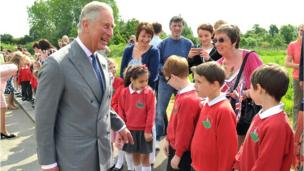 The sun shone for the royal visitors