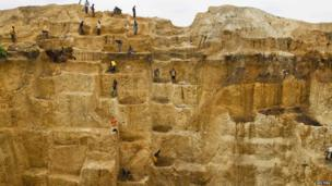 Workers at a mine in Mina, Nigeria - Sunday 23 June 2013