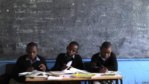 Kenyan students in a Nairobi classroom - Tuesday 25 June 2013
