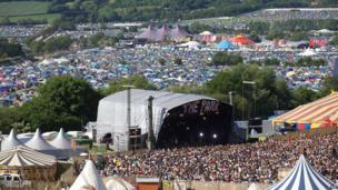 Crowds and tents