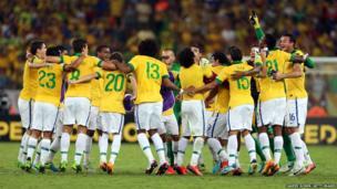 Brazil celebrate their victory