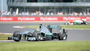 Mercedes' Lewis Hamilton at Silverstone