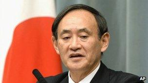 File photo: Japan Chief Cabinet spokesman Yoshihide Suga