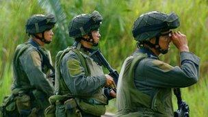 Colombian soldiers, file image