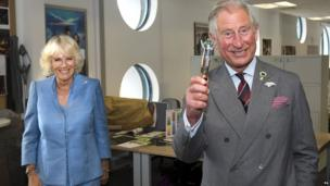 Prince Charles takes possession of the Doctor's Sonic Screwdriver