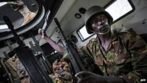 Kenyan soldier in Kismayo