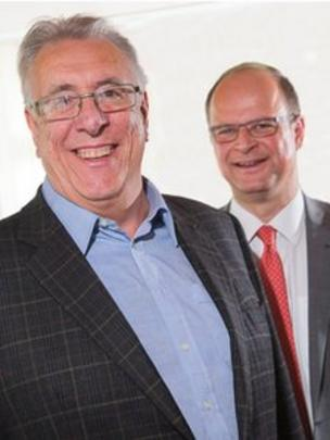 Dr Peter Codd (left) and Dr Thomas Haag