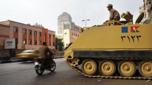 An Egyptian tank in Cairo.