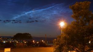 Notilucent clouds over Aberdeen