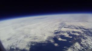 The helium balloon at the edge of space. Pic: Penair School