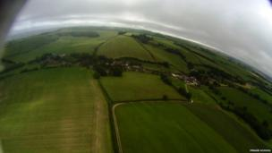 View of earth from Penair School balloon. Pic: Penair School