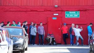 Fans queue for tickets to see Champions League second-round qualifier Cliftonville