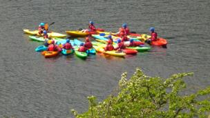 A colourful flotilla on Llynau Mymbyr while walking on the lower slopes of Moel Siabod recently. Pete Whitehead of Rachub, Gwynedd took the image.