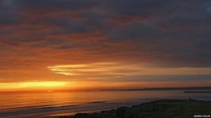 The sun rises over Castlerock. Amanda Killen, who took this photograph, said it felt like she was back in Australia.