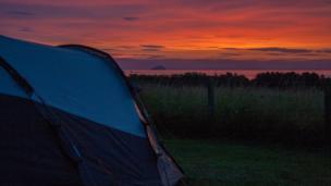 Sunset over Dunbar