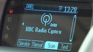 Digital radio in car