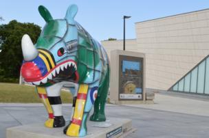 Rhino outside Seacity museum