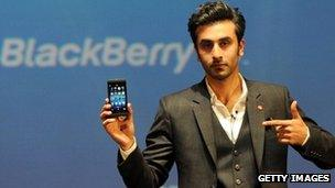 Bollywood film actor and BlackBerry brand ambassador, Ranbir Kapoor