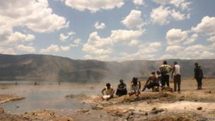 Lake Bogoria in Kenya