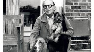 Alex Graham with Freda the basset hound and their other dog