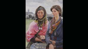 Gypsies at Ascot, 1933, by Dame Laura Knight