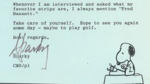 Letter from Peanuts creator Schulz to Alex Graham