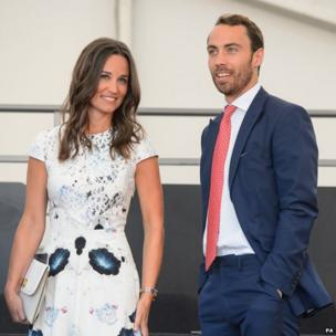 Pippa Middleton and James Middleton in the royal box during the Coronation Festival Evening Gala, at Buckingham Palace