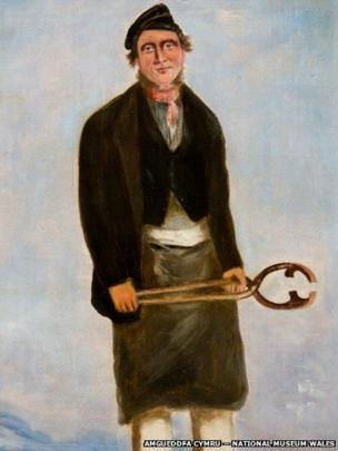 Detail of portrait of William James, Roller, Forest attributed to William Jones Chapman (?1808 – after 1871), on display at National Museum Cardiff, given by Miss Sylvia Crawshay, 2012