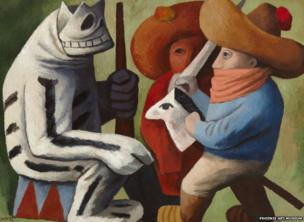 Carnaval en Huejotzingo by Jose Chavez Morado, 1939