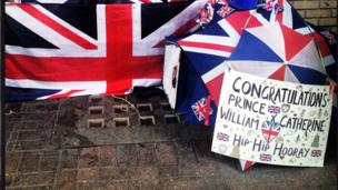 Royal baby supporter camped outside St Mary's hospital, Paddington. Photo: Claire Goodfellow