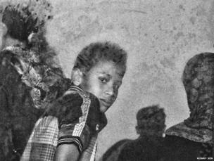 A boy at the relief camp