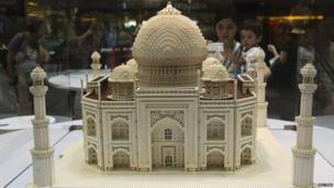 Lego model of Taj Mahal