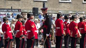 Princess of Wales's Royal Regiment parade in Tunbridge Wells
