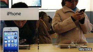 iPhone in China Apple Store